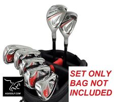 MEN'S LEFT HAND ORLIMAR IRONS SET w/ 4 & 5+HYBRIDS + 6, 7, 8, 9 & PITCHING WEDGE
