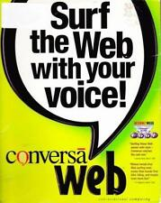 Conversa Web 3 PC CD surf web by voice recognition internet browsing speech talk