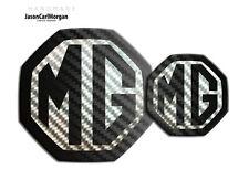 MG ZS LE500 MK2 Badge Inserts Front Rear Logo 59/95mm Black Carbon Badges