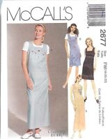 UNCUT McCalls Sewing Pattern Misses Dress Jumper 2677 OOP SEW Creative NEW FF
