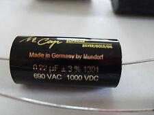 1.0 uf 1000 VDC MUNDORF M-CAP® Supreme 1uf SGO Silver / Gold / Oil CAPACITOR