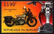 1942 HARLEY DAVIDSON WLA Military Motorcycle WWII US Army Motorbike Stamp (2012)