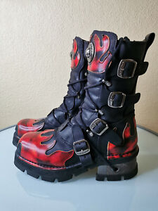 New Rock Reactor, Demon Flame Boots, Gr. 45, Sonder-Modell (s. Text)