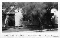 1940s Casa Siesta Lodge Phoenix Arizona RPPC real photo postcard 6374