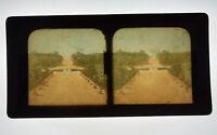 Tissue Stereoview Tuileries Garden Orangerie Paris France c.1880s-90s