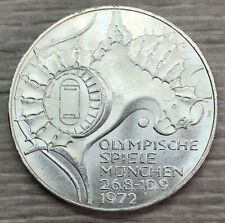 1972 Germany Munich Olympics 10 Mark Silver Coin (G420)