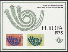 Belgium 1973 Special Proof Sheet EUROPA Issue FEUILLET DE LUXE Cob LX61....A4859