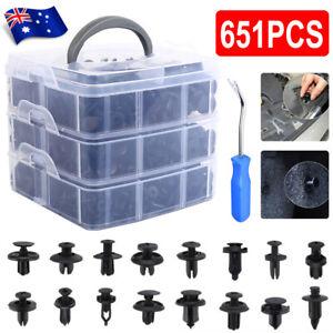 651PCS Car Body Trim Clips Retainer Bumper Auto Panel Push Plastic Fastener Kit