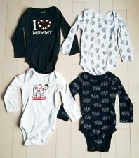 JOE FRESH BABY BOY OR GIRL SET OF 4 LOT LONG SLEEVE BODYSUITS MOMMY (18-24M)