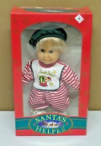 Vintage Santa's Helper 1992 Boy Doll K-Mart Exclusive Soft-Luv New in Box