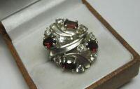 Amazing Vintage Ring Sterling Silver 925 Garnet Stone Fashion Jewelry Size 7