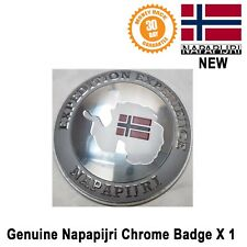 Napapijri Wing Boot Rear Car Badge Emblem Logo Genuine Round New