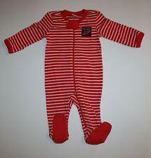 New Gymboree Sleep N Play PJs Red Stripes Valentine Rear Fun at Heart NWT 0-3M