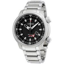 Citizen Black Dial Stainless Steel Men's Watch BJ708053E