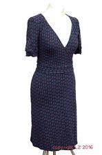 P347/14 Warehouse Sexy Purple Jersey Wrap Dress, size UK 8 Euro 36