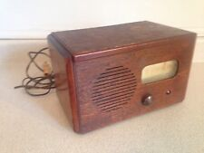 Vintage 1940's Stewart Warner Wooden Mantel Tube Radio Model R-552B