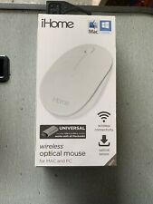 NEW iHOME Universal Wireless Optical Mouse MAC and PC USB-C and USB-A