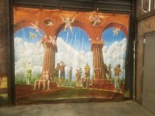 """large landscape oil painting on canvas """"theatrical backdrop"""" rare provocative"""