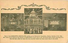 1910 Schrafft's Chocolates, Mechanics Exposition, Boston, Massachusetts Postcard