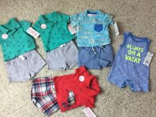 Boy Newborn NEW LOT  Pack of One-Piece Sets & Shorts  Size NB Cat & Jack