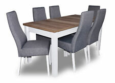Design Table+6 Chairs Dining Room Set Chair Set Essgarnituren Tables Wood