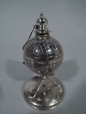 Reed & Barton Lighter - 85 - Antique Golf Ball - American Sterling Silver