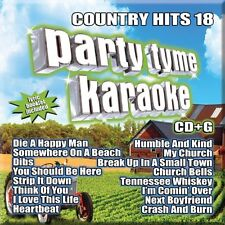 PARTY TYME KARAOKE CD - COUNTRY HITS 18 (2016) - NEW UNOPENED