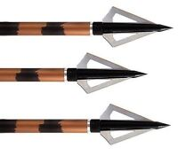 ALLEN GRIZZLY fixed broadheads 3pk 125 grain 3 blade 14625A hunting archery
