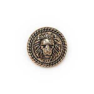 5pcs vintage gold lion metal shank buttons for sewing garment blazer 20mm