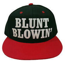 BLUNT BLOWIN FLOCK Black/Red Snapback Cap