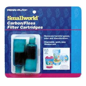 2 Penn Plax SWF2C Smallworld Carbon/Floss Filter Cartridges 2 Pack, Total of 4