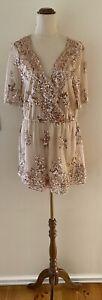 NWT TEMT Rose Gold Sequin Jumpsuit Size 14 RRP $39.95