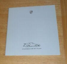Porsche 911 Turbo Brochure 1985-1986 - UK Market inc Colours
