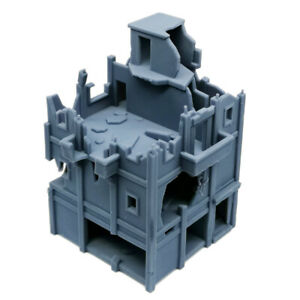 Outland Models Military Scenery Structure Destroyed City House (Tall) 1:144