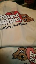 Vintage Pound Puppies Twin Flat Sheet Pillowcase Tonka 80s Great Condition