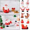Fairy Garden Deer Miniature Snowman Xmas Tree Santa Claus Christmas Figurines