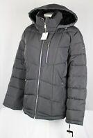 Calvin Klein Women's Quilted Winter Coat Wind Water Resistant Size XL Gray