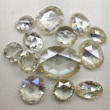 Oval Checkerboard Loose Moissanite Use 4 Ring 0.79 Ct 7.12 x 5.01 Mm Vvs1 Yellow