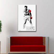 NEW Muhammad Ali Boxing framed canvas art PRINT home painting ufc fighter mma