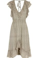 L'agence Net A Porter Grey Sophie Ruffle Silk Chiffon Dress UK 10 US 6 NWT