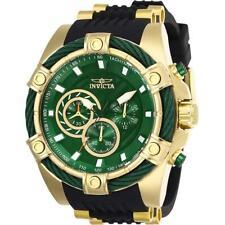 Invicta Bolt 25532 Men's Green Dial Chronograph Black Silicone Band Watch