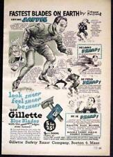 Irving Jaffee Speed Skating Champ Gillette Razor Blades AD 1947 Frank Williams