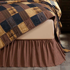 VHC Brands Patriotic Patch King Bed Skirt/Matches Patriotic Patch Bedding
