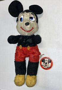 "Vintage Walt Disney Mickey Mouse Club Button & California Stuffed Toys 22"" Plush"