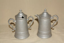 WILTON ARMETALE RWP FLAGON PATTERN CREAM AND SUGAR WITH LIDS MINT 8261