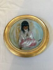 DeGrazia PRAYER CHRISTMAS ANGEL 1981 Holiday Series Ltd. Ed. Collector Plate MIB