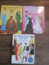 3-Paper Doll Books~Fashion Parade,Red Carpet Fashions,Newport Fashions Gilded