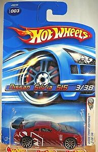 2006 Hot Wheels #3 First Editions 3/38 NISSAN SILVIA S15 Red w/Chrome 10Sp Varia