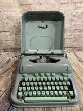 Vtg. 1960s HERMES 3000 Manual Typewriter..Seafoam Green ..Works well