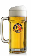 2 x NEW 2019  ABK GLASS BEER TANKARDS 1 PINT TO LINE BY SAHM Free Shipping UK